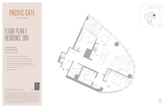 Pacific Gate Unit 304 Floor Plan