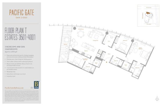 Pacific Gate Unit 3601 Floor Plan