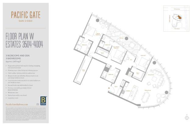 Pacific Gate Unit 3504 Floor Plan