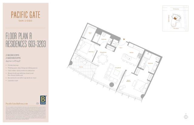 Pacific Gate Unit 1503 Floor Plan